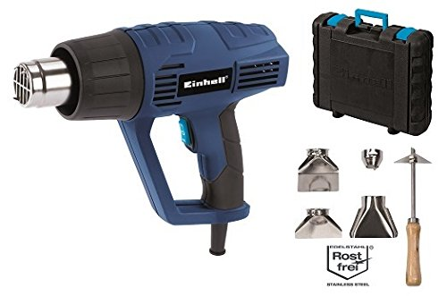 Einhell Heissluftpistole BT HA 20001 2000 W max 550 °C 2 - Einhell Heißluftpistole BT-HA 2000/1 (2000 W, max. 550 °C, 2 Heizstufen/Luftmengen, inkl. umfangreiches Zubehör, im Koffer)