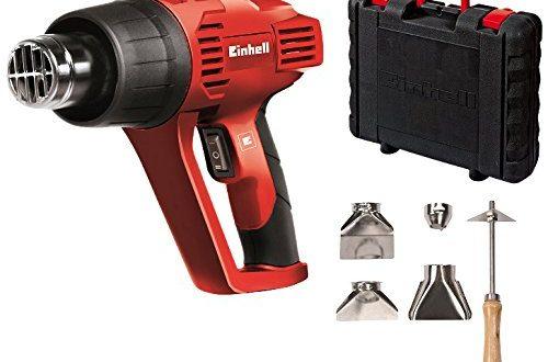 Einhell Heißluftpistole TH-HA 2000/1 (2000 W, 2 Stufen, max. 350°C, 4 Düsen, Farbkratzer, Koffer)
